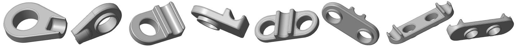 Peças de mini implante